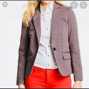 Michael Kors Navy Blue Jacket with Red Pock Dots.